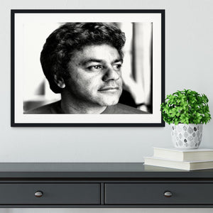 Johnny Mathis Framed Print - Canvas Art Rocks - 1