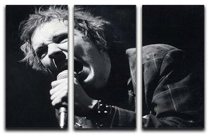 Johnny Rotten sings 3 Split Panel Canvas Print - Canvas Art Rocks - 1