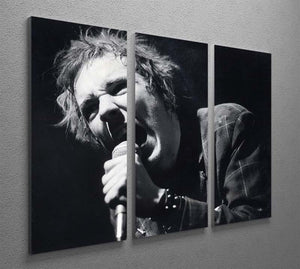 Johnny Rotten sings 3 Split Panel Canvas Print - Canvas Art Rocks - 2