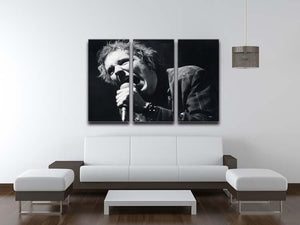 Johnny Rotten sings 3 Split Panel Canvas Print - Canvas Art Rocks - 3