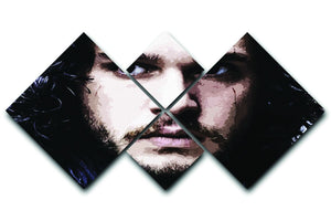 Jon Snow 4 Square Multi Panel Canvas  - Canvas Art Rocks - 1
