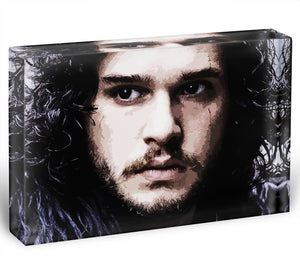 Jon Snow Acrylic Block - Canvas Art Rocks - 1
