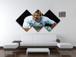 Jonny Wilkinson Running 4 Square Multi Panel Canvas - Canvas Art Rocks - 3