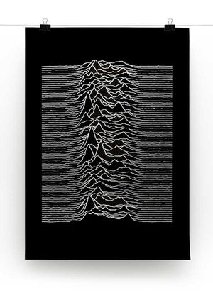 Joy Division Unknown Pleasures Print - Canvas Art Rocks - 2