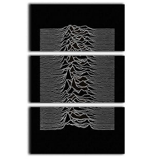Joy Division Unknown Pleasures 3 Split Panel Canvas Print - Canvas Art Rocks - 1