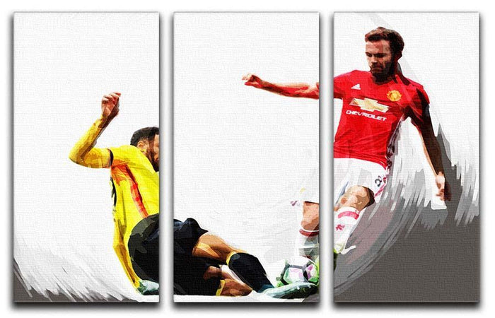 Juan Mata Man United 3 Split Panel Canvas Print