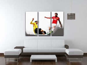 Juan Mata Man United 3 Split Panel Canvas Print - Canvas Art Rocks - 3
