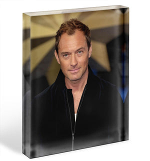 Jude Law Acrylic Block - Canvas Art Rocks - 1