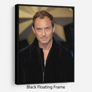 Jude Law Floating Frame Canvas - Canvas Art Rocks - 1