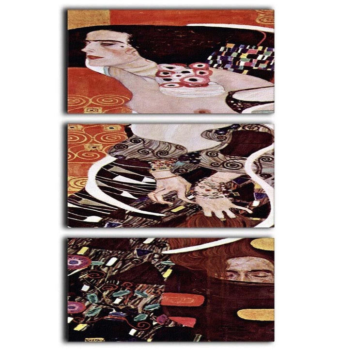 Judith II by Klimt 3 Split Panel Canvas Print