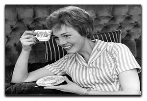 Julie Andrews with a cup of tea Canvas Print or Poster  - Canvas Art Rocks - 1