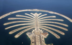 Jumeirah Palm Island Development Wall Mural Wallpaper - Canvas Art Rocks - 1