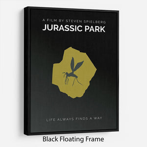 Jurassic Park Life Always Finds A Way Minimal Movie Floating Frame Canvas - Canvas Art Rocks - 1