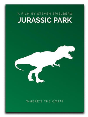 Jurassic Park Wheres The Goat Minimal Movie Canvas Print or Poster  - Canvas Art Rocks - 1