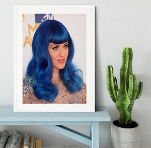 Katy Perry in blue Framed Print - Canvas Art Rocks - 5