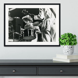 Keith Moon and Pete Townshend at Tanglewood Music Shed Framed Print - Canvas Art Rocks - 1