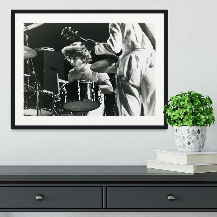 Keith Moon and Pete Townshend at Tanglewood Music Shed Framed Print