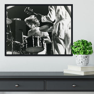 Keith Moon and Pete Townshend at Tanglewood Music Shed Framed Print - Canvas Art Rocks - 2