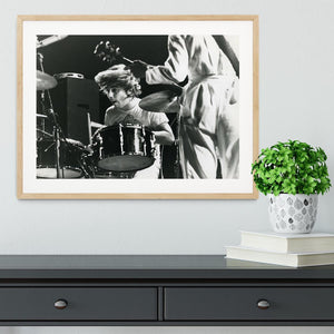 Keith Moon and Pete Townshend at Tanglewood Music Shed Framed Print - Canvas Art Rocks - 3