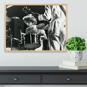 Keith Moon and Pete Townshend at Tanglewood Music Shed Framed Print - Canvas Art Rocks - 4