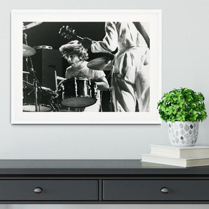 Keith Moon and Pete Townshend at Tanglewood Music Shed Framed Print - Canvas Art Rocks - 5