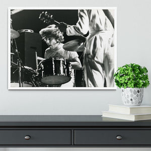 Keith Moon and Pete Townshend at Tanglewood Music Shed Framed Print - Canvas Art Rocks -6