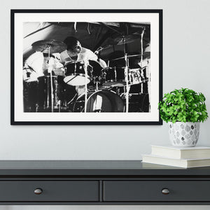 Keith Moon at Forest Hills Tennis Stadium 2 Framed Print - Canvas Art Rocks - 1
