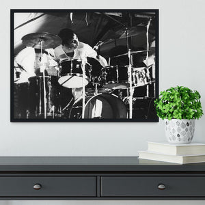 Keith Moon at Forest Hills Tennis Stadium 2 Framed Print - Canvas Art Rocks - 2