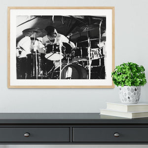Keith Moon at Forest Hills Tennis Stadium 2 Framed Print - Canvas Art Rocks - 3