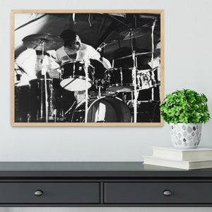 Keith Moon at Forest Hills Tennis Stadium 2 Framed Print - Canvas Art Rocks - 4