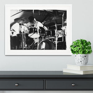 Keith Moon at Forest Hills Tennis Stadium 2 Framed Print - Canvas Art Rocks - 5