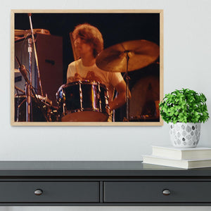 Keith Moon at Tanglewood Music Shed 6 Framed Print - Canvas Art Rocks - 4