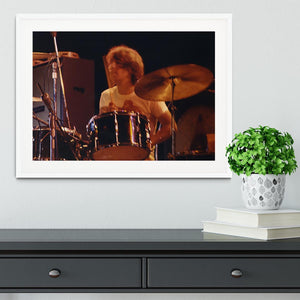 Keith Moon at Tanglewood Music Shed 6 Framed Print - Canvas Art Rocks - 5
