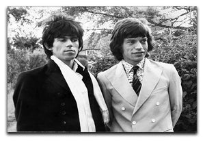 Keith Richards and Mick Jagger Canvas Print or Poster  - Canvas Art Rocks - 1