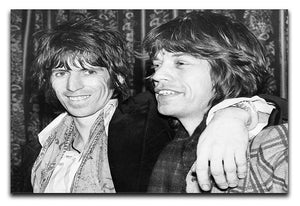 Keith Richards and Mick Jagger celebrate Canvas Print or Poster  - Canvas Art Rocks - 1