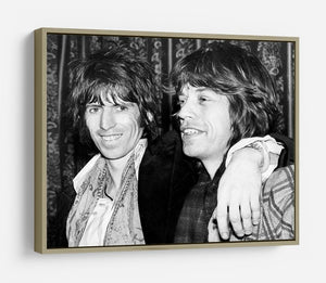 Keith Richards and Mick Jagger celebrate HD Metal Print