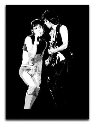 Keith Richards and Mick Jagger groove Canvas Print or Poster  - Canvas Art Rocks - 1