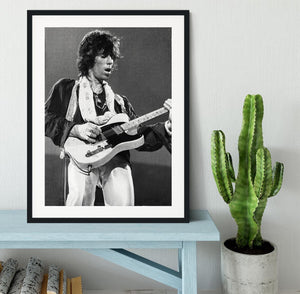 Keith Richards at Earls Court Framed Print - Canvas Art Rocks - 1