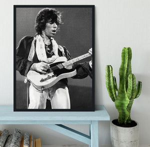 Keith Richards at Earls Court Framed Print - Canvas Art Rocks - 2