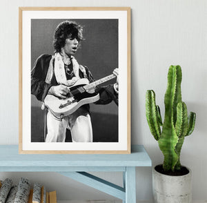Keith Richards at Earls Court Framed Print - Canvas Art Rocks - 3