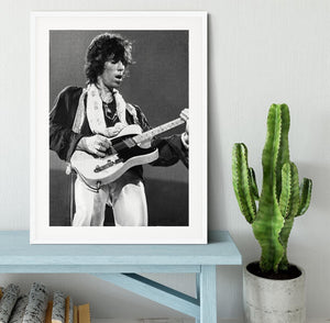 Keith Richards at Earls Court Framed Print - Canvas Art Rocks - 5