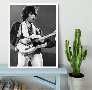 Keith Richards at Earls Court Framed Print - Canvas Art Rocks -6