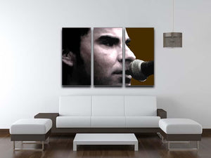 Kelly Jones Stereophonics 3 Split Panel Canvas Print - Canvas Art Rocks - 3