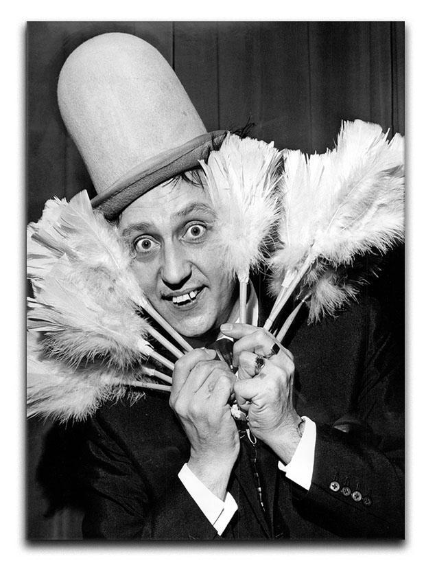 Ken Dodd with tickling sticks Canvas Print or Poster