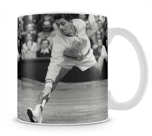 Ken Rosewall in action at Wimbledon Mug - Canvas Art Rocks - 1
