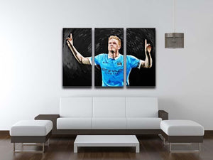 Kevin De Bryne Man City 3 Split Panel Canvas Print - Canvas Art Rocks - 3