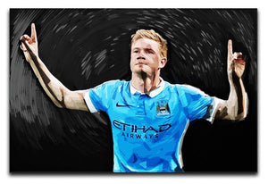 Kevin De Bryne Man City Print - Canvas Art Rocks - 1