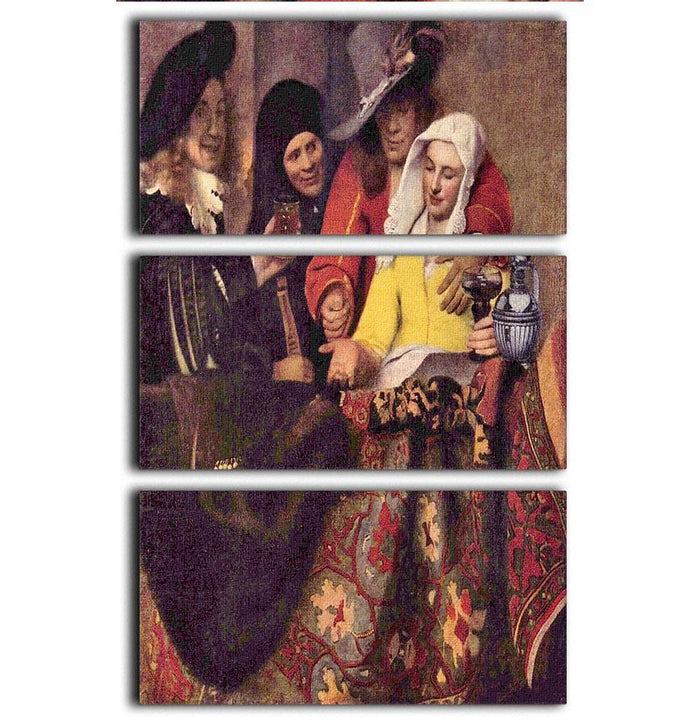 Kupplerin by Vermeer 3 Split Panel Canvas Print