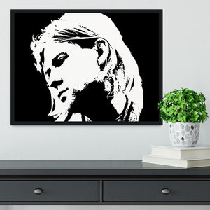 Kurt Cobain Framed Print - Canvas Art Rocks - 2