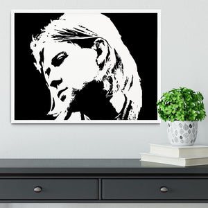 Kurt Cobain Framed Print - Canvas Art Rocks -6
